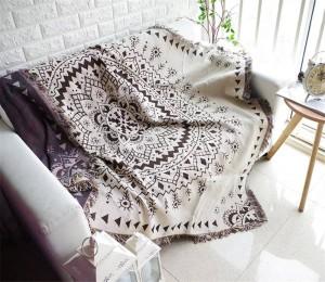 Estilo Bohemia Geometría Manta de tiro Sofá Funda decorativa Cobertor en sofá / Camas / Avión de viaje Mantas de costura antideslizantes