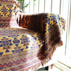 Bohemia Mantas vintage para camas Manta Cobertor Throw Manta Victoria Funda para sofá Funda para cama Manta de toalla geométrica ondulada
