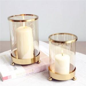 Breve sostenedor de vela chapado de metal Base de la vela Aromaterapia Luz de la noche Cena Decoración de Navidad Artesanía Adorno