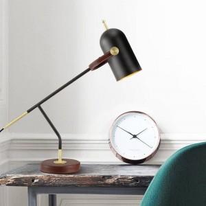 Breve decoración moderna lámpara de mesa luz de escritorio negro nórdico E27 lámpara led iluminación del dormitorio simple hogar arte decorativo