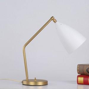 Breve lámpara de mesa moderna simple escritorio luz negro blanco gris color oro cuerpo nordic E27 lámpara dormitorio iluminación hogar arte decorativo