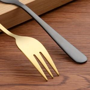 Tenedor de cena de acero inoxidable 18/10 Juego de 5.6 pulgadas de utensilios de cubiertos pulidos espejo de 12 piezas Gran ensalada Tenedores de plata