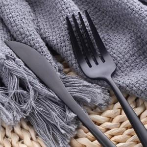 Juego de cubiertos de acero inoxidable SUS304 de 24 piezas para el hogar / cocina / restaurante / elegante servicio de cubiertos mate para 8