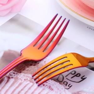40 piezas de vajilla de acero inoxidable 304 cuchillos cubiertos tenedor conjunto vajilla oro plateado Western Food Set servicio para 8