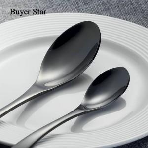 Juego de cubiertos negros de 4 piezas Juego de vajilla de acero inoxidable y oro Cuchillo Tenedor Mesa Tenedor Juego de vajilla negro Envío directo