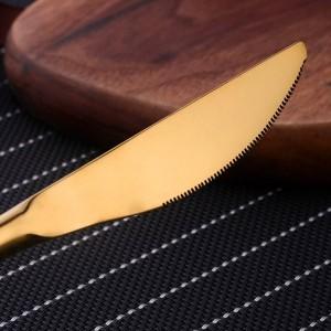 Juego de vajilla de alta calidad 18/10 Cubiertos Cubiertos Utensilios de acero inoxidable Cocina Vajilla Cuchillo Tenedor Cuchara