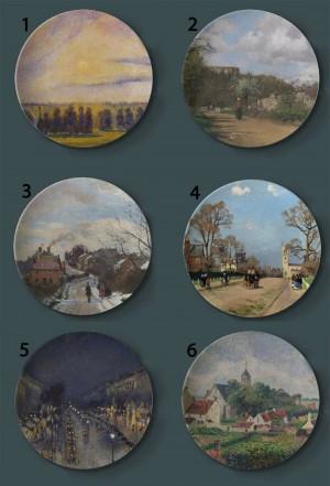 Camille Pissarro Pintura Placas decorativas Francia Hogar Plato artístico Hotel Sala de estar Fondo Pantalla Placas de pintura al óleo