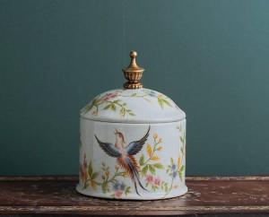 Tarro de caramelo retro-nostalgia Tarro de cerámica europeo tarro sellado tarro de té creativo hogar varios almacenamiento