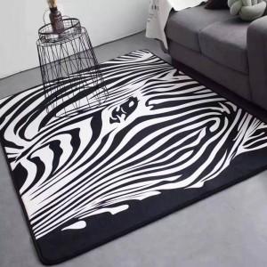 Alfombrillas Alfombra de cebra Alfombra de dormitorio en blanco y negro Sala de estar Habitación de huéspedes Sofá cama Salón Tapetes Moda de gran tamaño
