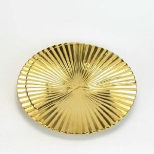 Cuencos decorativos de cerámica Modernas rayas geométricas doradas creativas Decoración para el hogar Adornos