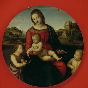 Placas de cerámica Famoso Pintor Rapheal Virgen María Religiosa Católica Bisel Santa Madre de Dios Decoración de pared Pintura