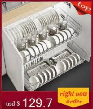 Cestas Accesorios deslizantes Arreglos para gabinetes Despensas Organizador de cocina de acero inoxidable Cesta de almacenamiento de gabinetes de cocina