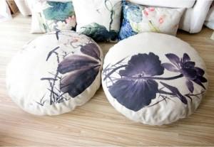 tinta lotus Lotus Cushion lino circular queen Futon cojín Asiento (grueso) tatami Mat yoga meditación cojín 80 * 80 * 15cm