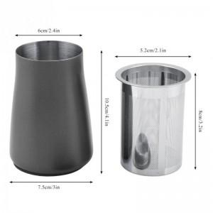 Tamiz de polvo de filtro de café Malla de acero inoxidable 304 Copa de filtro fino Accesorios de máquina de molienda de taza de aroma de café en polvo