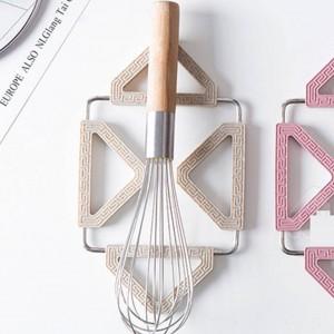 Color plegable antideslizante antideslizante Almohadilla Sartén Cacerola Mantelera Maceta Estera Coaster Cojín Accesorios de cocina