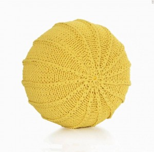 Cotton Craft - Cable de punto tricotado a mano Dori Pouf Floor Ottoman - 100% Cotton Braid Cord - Hecho a mano y cosido a mano Puf Round