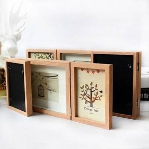 Combinación creativa marco de fotos tríptico retro americano 6 pulgadas 7 pulgadas marco de fotos oficina café decoración del hogar