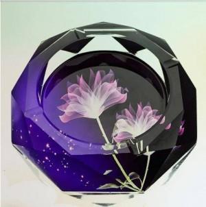 Ceniceros de cristal creativos, artículos para el hogar y suministros de oficina, diámetro 12 cm.
