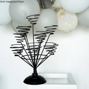 Macarrón creativo exhibir el soporte Decoraciones para el hogar festival de la boda Organizar la taza de pastel de rack marco de alambre cristmas decoración