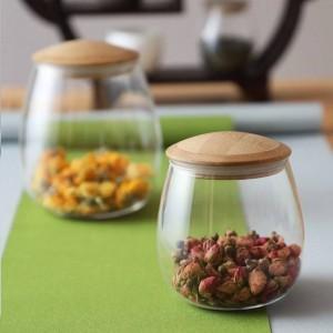 Tarro de masón creativo Especias Borosilica Frascos de vidrio con tapa Tapa sellada Botella de almacenamiento de cocina Café Azúcar Contenedor a granel Latas de caramelo