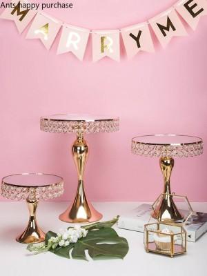 Creativo estilo nórdico taza de boda de hierro estante de pastel bandeja de mesa de postre plato de fruta soporte de exhibición decoración herramientas de decoración de pastel