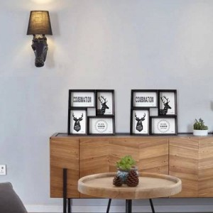 Creativo marco de fotos 4 6 pulgadas juego mesa de pared doble uso combinación de marco de fotos para unir pieza foto pared estilo americano