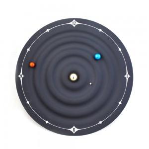 Reloj de mesa creativo Diseño moderno Orbit Galaxy Relojes magnéticos Planet Ball Reloj de escritorio Montado en la pared o escritorio Decoración para el hogar 8 pulgadas