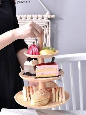 Mesa de postre de madera creativa Soporte de pastel Soporte de exhibición Bandeja de frutas boda Fiesta de cumpleaños Almacenamiento de cocina Decoraciones para el hogar