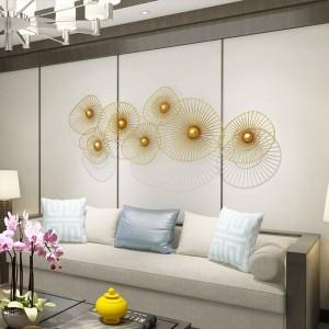 Decoración de pared de lujo de nueva luz personalizada Decoración de fondo de sofá colgante de pared creativo para el hogar
