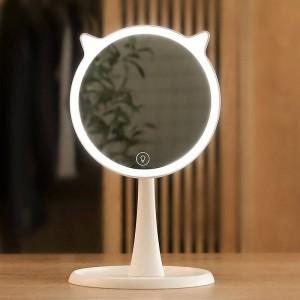 Lindo LED Luz Maquillaje Espejo hogar Pantalla táctil Maquillaje Espejo Vanidad profesional con luces LED Espejo Decoración mx12281800