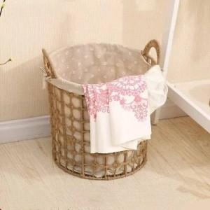 Cesta de almacenamiento de ropa sucia Cesta de lavandería nórdica cesta de almacenamiento tejida grande cesta de ropa sucia sencilla