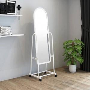 Espejo vestidor dormitorio completo tienda de ropa espejo de ajuste grande hogar móvil piso espejo de vestidor simple wx8241341