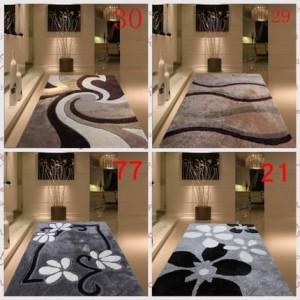 Engrosamiento cifrado brillante de seda sala de estar mesa de café dormitorio cabecera alfombra moderna sencilla de estilo nórdico patrón de alfombra