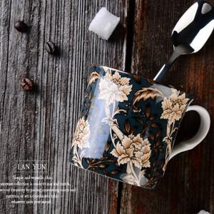 Taza clásica de hueso de Europa Taza de viento de corte inglés Taza de café Tazas de leche Taza de viaje de taza de té mango Taza de agua 300 ml Drinkware