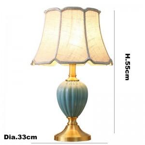 Rayas de cebra de Europa lámparas de mesa de cerámica vestíbulo decoración de la mesita de luz tela blanca pantalla de lámpara estudio LED lámpara de lectura
