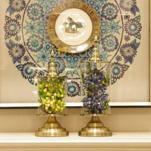 Florero de vidrio creativo europeo Belleza Decoración del hogar Tanque de almacenamiento Decoración práctica Decoración de la habitación modelo