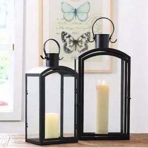 Europeo moderno minimalista exterior hierro candelero decoración jardín piso viento lámpara de viento accesorios de la boda modelo de decoración de la habitación