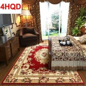 Estilo europeo sala de estar mesa de café alfombra dormitorio cabecera alfombra alfombra moderno minimalista manual tridimensional corte de flujo