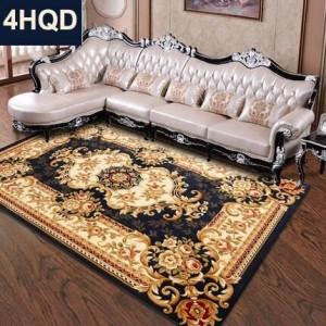 Estilo europeo sala de estar mesa de café sofá alfombra nueva flor hecha a mano cifrado engrosada cama manta cama