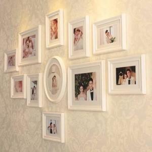 Marco de madera de estilo europeo foto marco de pared pared combinación creativa de elegante decoración para el hogar Decoración de la boda