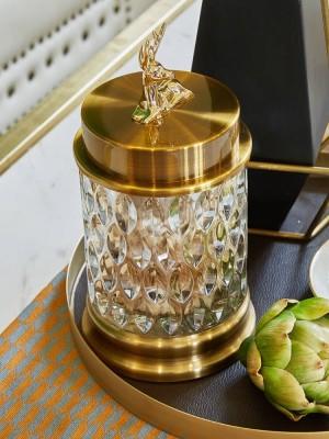 Cristal Transparente europeo Cristal Caramelo Tarro de Almacenamiento Utensilios Tanques de Azúcar Creativas Decoraciones de Sala de estar Adornos