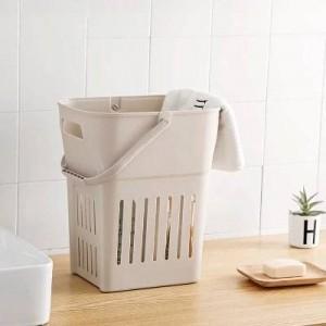Plástico extra grande obstaculizar ropa sucia cestas de almacenamiento canasta de ropa baño poner caja de juguetes barril de lavandería