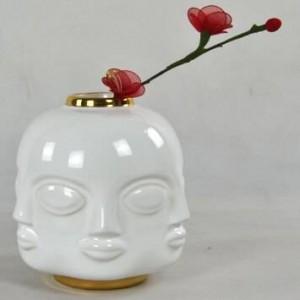 Jarrón de cerámica americano cara de escritorio neoclásico de tres piezas florero de cerámica decoración del hogar adornos joyería