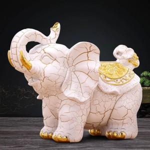 Moda creativa europea retro decorativa elefante tejido caja de estudio casa mesa decoración artesanías