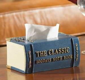 Moda Vintage Libros Estilo Caja de resina Caja de bombeo de papel Tubo Toalla de papel