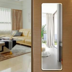 Espejo de piso espejo de cuerpo entero espejo para colgar en la pared pegar espejo simple sin marco dormitorio armario espejo ajustado wx8241113