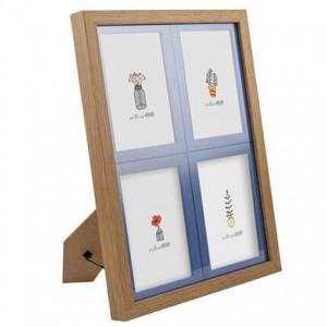 Cuatro enmarcados 5 pulgadas 6 pulgadas 7 pulgadas niños siameses marco de fotos grano de madera bebé foto marco combinación pared versión coreana de t