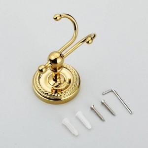 Gancho para batas de baño soporte de pared de tornillo único soporte de gancho para toallas de latón Accesorios de baño gancho para ropa XT1021