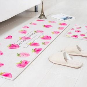 Patrón de frutas MAT Cojín cuadrado Cojín de la puerta de la cocina Baño Antideslizante Eliminar el polvo Alfombrillas de la mesa Alfombra de la cama Ropa de cama alfombras de sandía