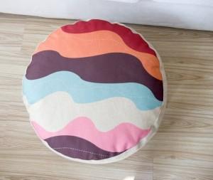 Patrones geométricos Color a cuadros cojín almohada estilo perezoso lino meditación almohada futón tatami sofá pequeño cojines 15 cm de espesor